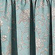 Floral Toile Print Pencil Pleat Curtain, DUCK EGG, swatch