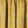 Floral Toile Print Pencil Pleat Curtain, OCHRE, swatch