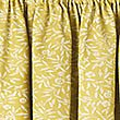 Floral Print Pencil Pleat Curtain, OCHRE, swatch