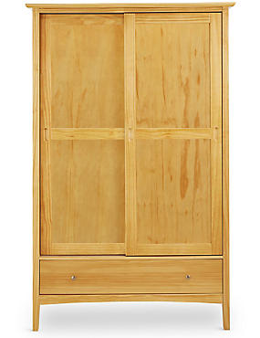 Hastings Natural Sliding Wardrobe, , catlanding