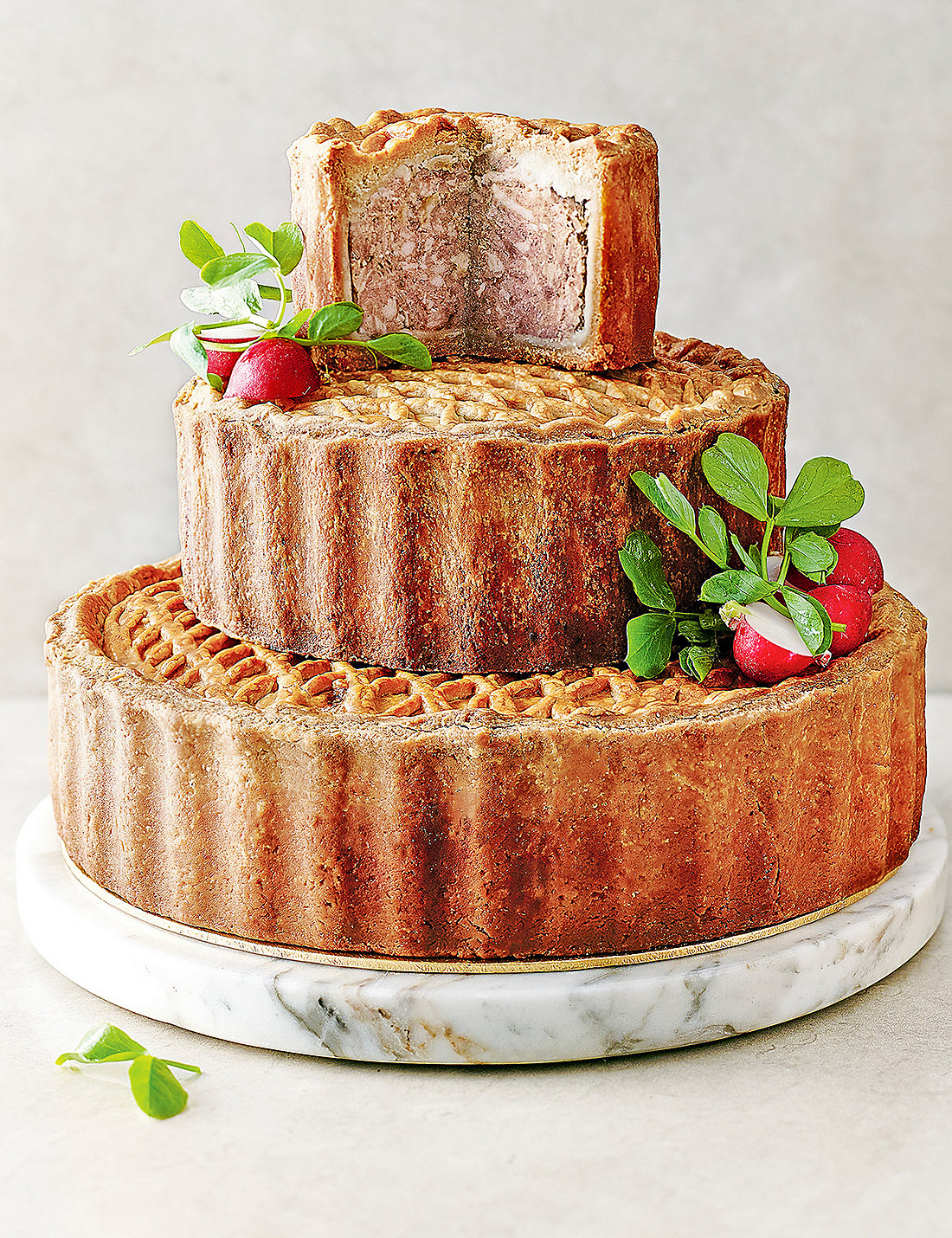 Tiered Celebration Pork Pie