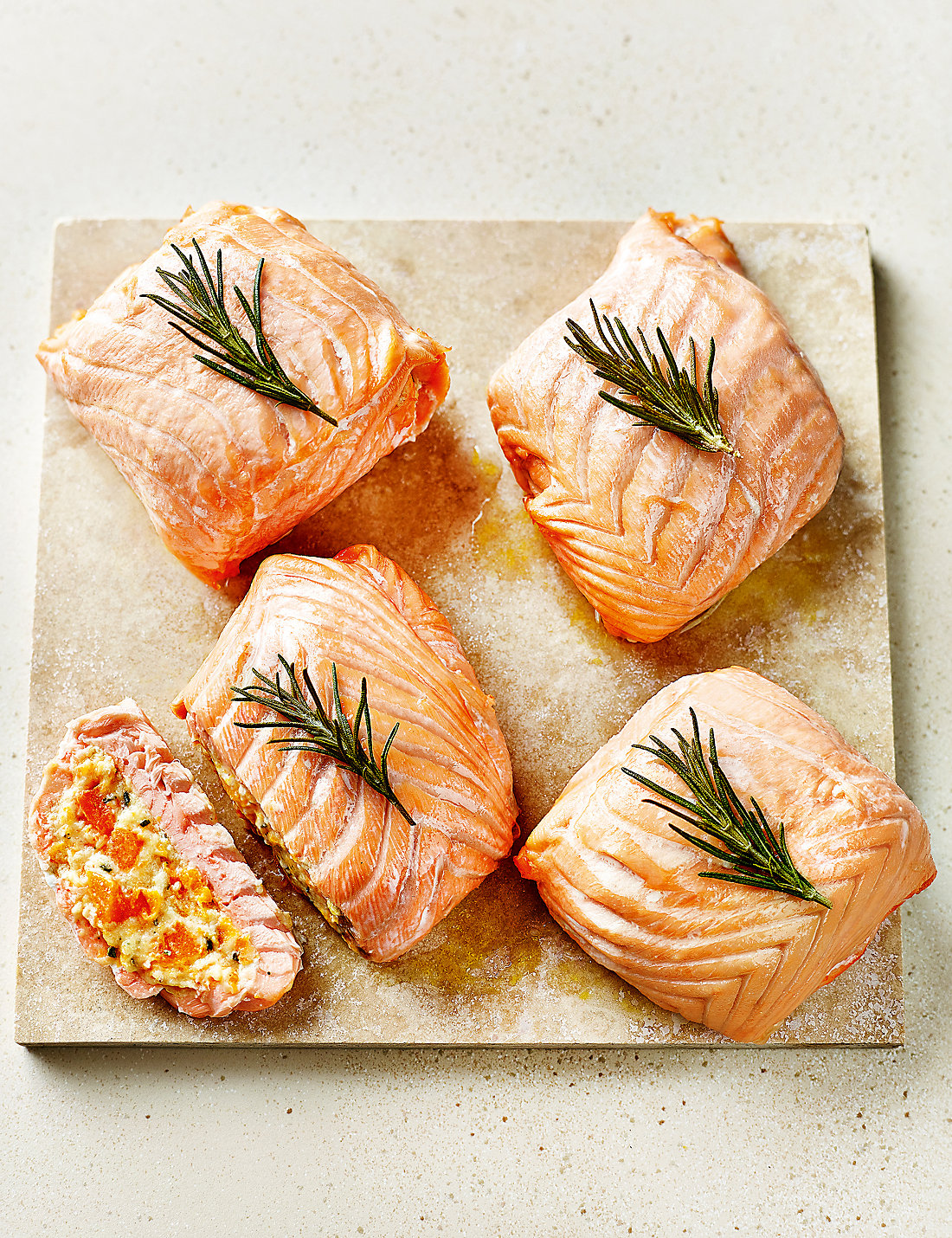 Sunday roast fishes sunday roast salmon fillets ms lochmuirtrade salmon paupiettes with butternut squash mascarpone ccuart Gallery