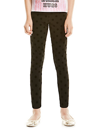 Cotton Rich Spotted Leggings with StayNEW™ (5-14 Years) Clothing