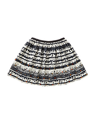 Pure Cotton Tribal Print Skirt (5-14 Years) Clothing