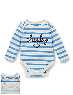 2 Pack Cheeky Smile Bodysuits
