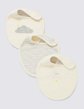 3 Pack Organic Cotton Bibs