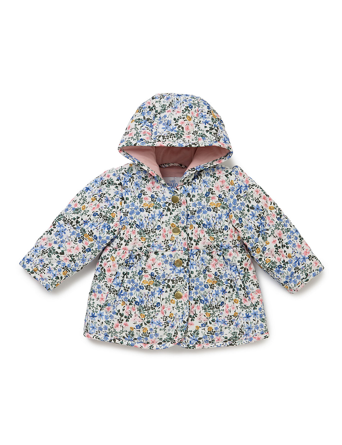 Ditsy Floral Quilted Car Coat