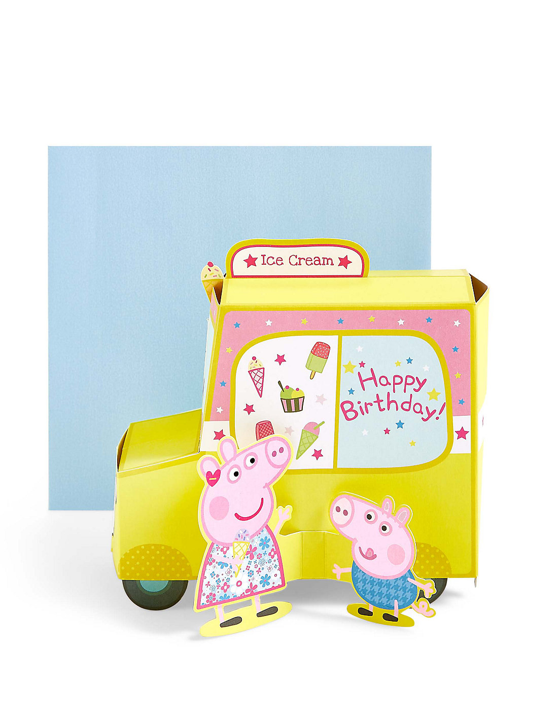 Kids cards birthday cards greeting cards for children ms pop up peppa pigtrade ice cream van birthday card kristyandbryce Image collections