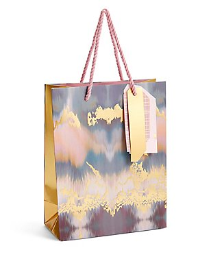 Pink & Gold Medium Gift Bag, , catlanding