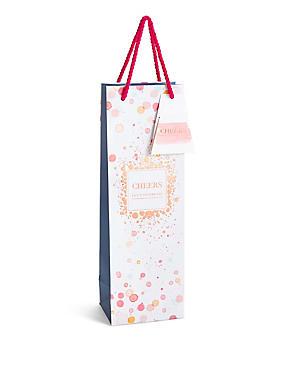 Let's Celebrate Watercolour Spot Bottle Bag, , catlanding
