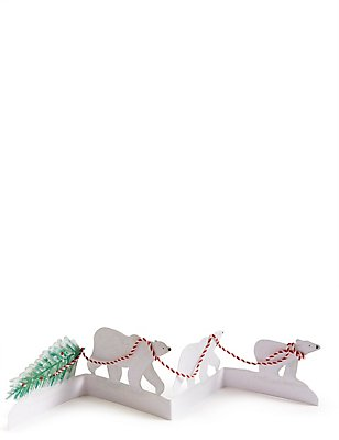 Polar Bear Cut Out Christmas Charity Cards Pack of 4, , catlanding