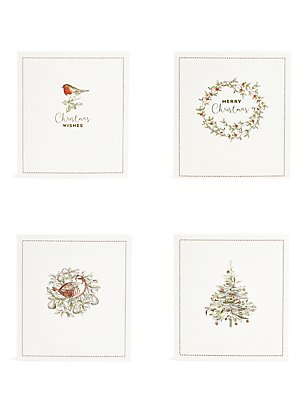 Lot de 20cartes de Noël caritatives à motif icônes traditionnelles, , catlanding