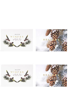 Festive Foliage Christmas Charity Cards Pack of 20, , catlanding