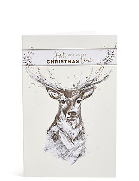 Stag Christmas Charity Cards Pack of 15, , catlanding