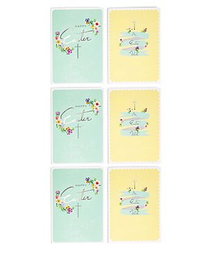 6 Easter Wish Multipack Cards, , catlanding