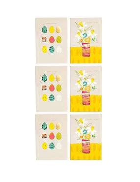 6 Floral Duo Easter Multipack Cards, , catlanding