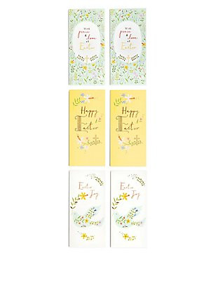 6 Peace & Love Easter Multipack Cards, , catlanding
