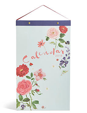 Floral 2018 Calendar, , catlanding