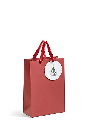 Red Tree Medium Christmas Gift Bag , , catlanding