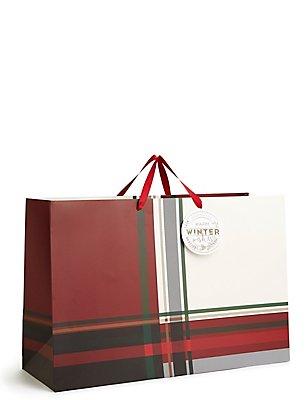 Sac cadeau de Noël à motif écossais, très grand format , , catlanding
