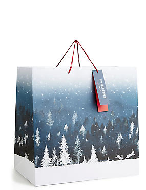 Winter Night Extra Large Christmas Gift Bag , , catlanding