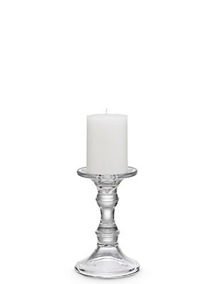 Small Manor Pillar Holder, CLEAR, catlanding