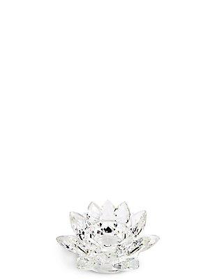 Cut Glass Flower Tea Light Holder, , catlanding