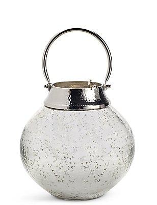 Mercury Large Glass & Metal Lantern, , catlanding