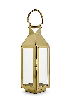 Medium Classic Lantern, GOLD MIX, catlanding