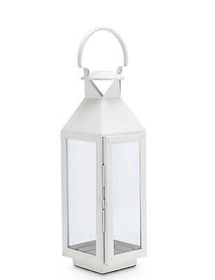 Medium Classic Lantern, WHITE, catlanding