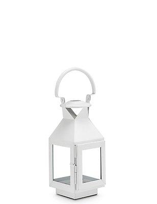 Small Classic Lantern, WHITE, catlanding