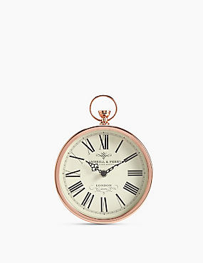 Fob Mantel Clock, COPPER, catlanding