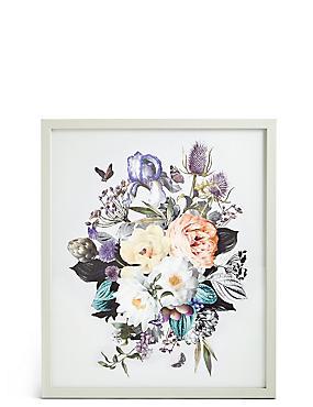 Décoration murale à motif bouquet de fleurs de couleur claire, , catlanding