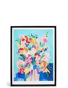 Décoration murale à motif fleuri flou, , catlanding