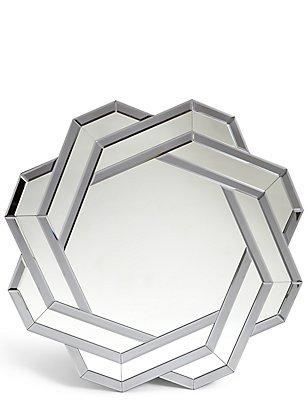 Spiegel met vlechtwerk, , catlanding