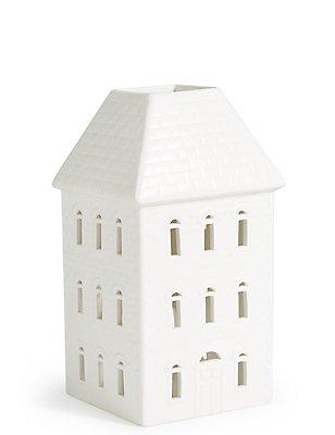 Large Ceramic House Tea Light Holder , , catlanding