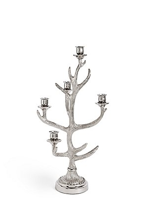 Standing Antler Dinner Candle Holder, , catlanding