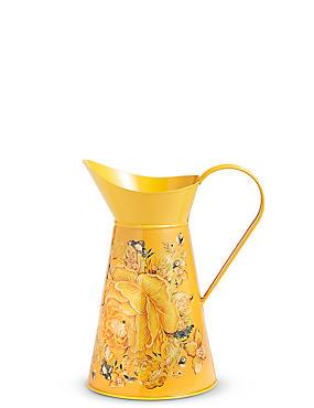 Large Etched Floral Print Jug, , catlanding