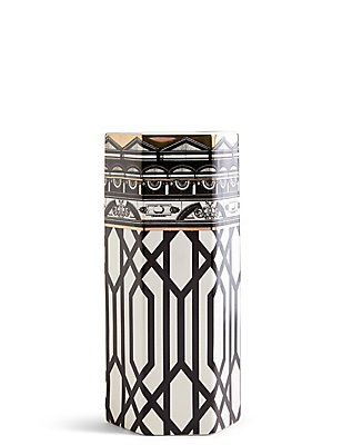 Hexagonal Decal Vase, , catlanding