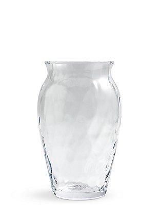Vaas van gehamerd glas, , catlanding