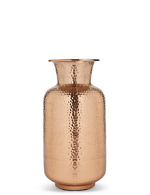 Tall Hammered Urn, , catlanding