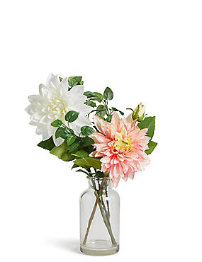 Dahlia Arrangement in Vase, , catlanding