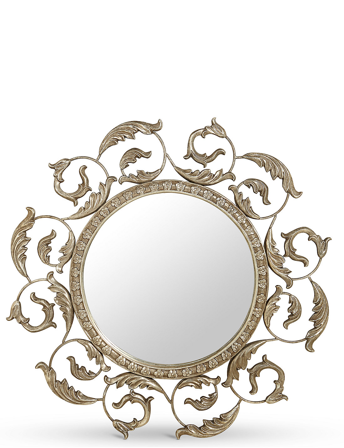 This italian circular wooden wall mirror is no longer available - Trailing Leaves Mirror