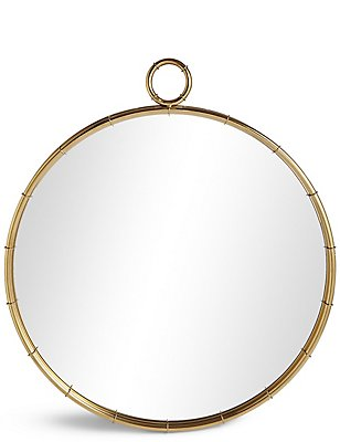 Runder Spiegel mit rohrförmigem Rand, , catlanding