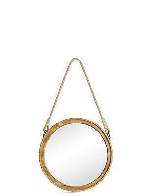 Miroir rond en bois, , catlanding