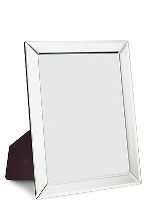 Mirrored Photo Frame 20 x 25cm (8 x 10inch), SILVER, catlanding
