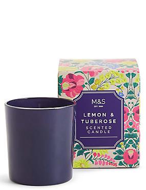 Lemon & Tuberose Scented Candle, , catlanding