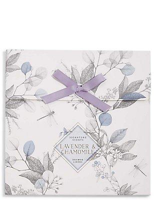 6 Lavender & Chamomile Drawer Liners, , catlanding