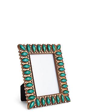 Cadre photo orné de perles 8,89 x 12,7cm, , catlanding