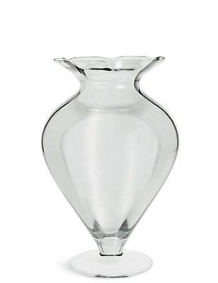 Wide Pretty Splayed Vase, , catlanding